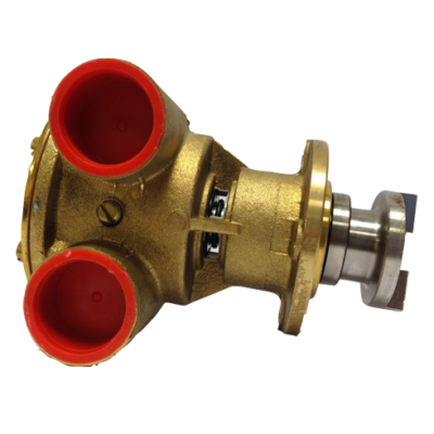 Johnson Pump bronzen koelwater-impellerpomp F7B-9 (Peugeot 505  Mercedes OM616/617  Vetus)