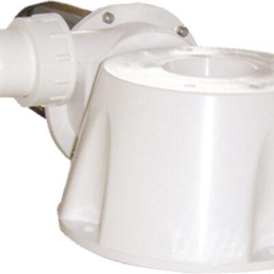 Johnson Pump conversiekit 12V  voor scheepstoilet  voet  90º bocht  motor & hakselaar