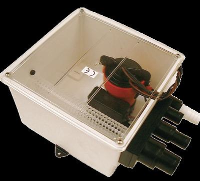 Johnson Pump douche-afvoerset multiport  24V/3 4A  72l/min