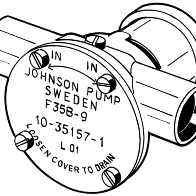 Johnson Pump zelfaanzuigende bronzen koelwater-impellerpomp F35B-9 (Volvo  BMW  Farymann  Ruggerini)