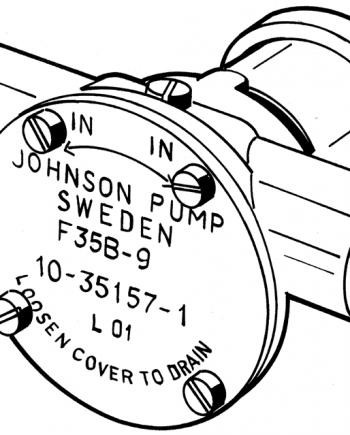 Johnson Pump zelfaanzuigende Bronzen Koelwater-Impellerpompen F35B-9