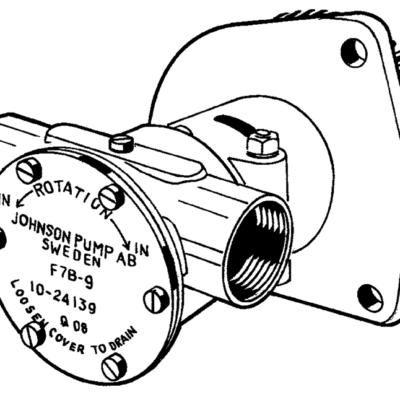 Johnson Pump zelfaanzuigende bronzen koelwater-impellerpomp F7B-9 (Hino W04D / W04CT)