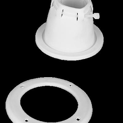 Kabeldoorvoer wit verstelbaar met ring  85 x 105mm