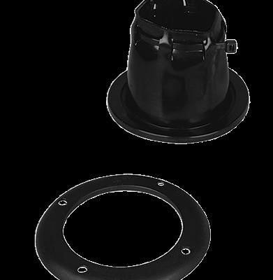 Kabeldoorvoer zwart verstelbaar met ring  85 x 105mm