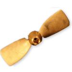 Klapschroef Brons 17×10 30mm Rechts