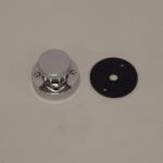 Kontrastekker Messing Verchr. 4-polig 8amp. met Deksel