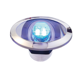 LED Loopverlichting met RVS maan blauw; ovaal 2x0.2W SMD 2835 LED