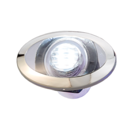 LED Loopverlichting met RVS maan  wit; ovaal  2x0.2W SMD 2835 LED