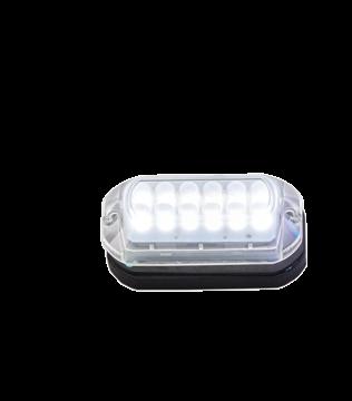 LED Onderwaterverlichting met kunststof huis; Lumen 180LM Cool White met RVS ring; incl. 1 5M-kabe