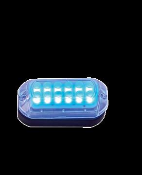 LED Onderwaterverlichting met kunststof huis; Lumen 20LM blue met RVS ring; incl. 1 5M-kabel