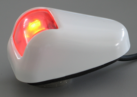 LED Positielantaarn bakboord rood  huis wit