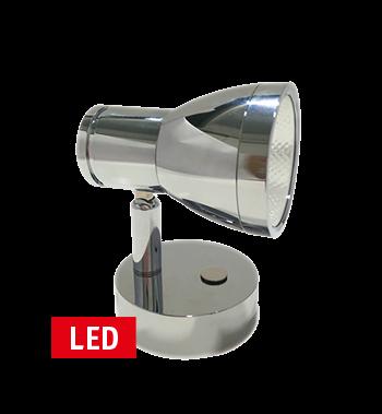 LED Wand-Leeslamp  10-30V; RVS;  met schakelaar