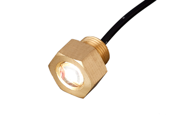 LED (aftap)plug onderwaterverlichting messing 10-30V blue