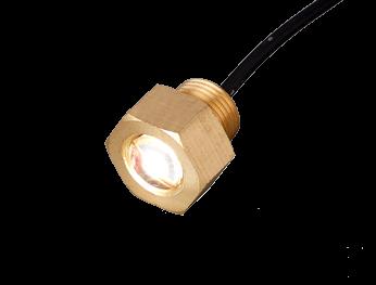 LED (aftap)plug onderwaterverlichting messing  10-30V  cool white