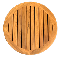 Massief teak tafelblad rond Ø610x23mm