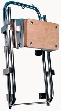 Motorstoel RVS  groot  slede-model  traploos  verticaal