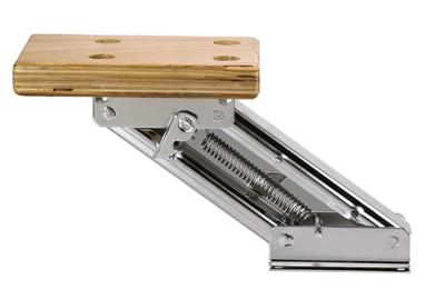 Motorstoel RVS met multiplex plank; tot 10PK