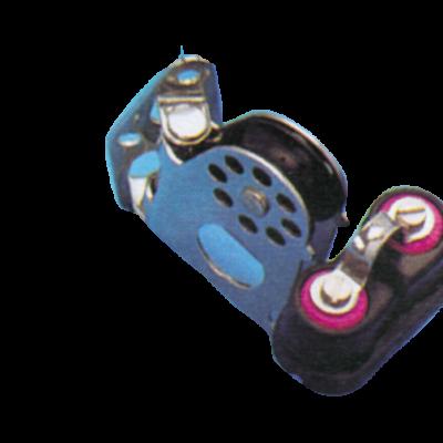 (N) allpa Kunststof wandblok enkelschijfs draaibaar (met schootklem)