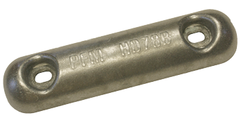 Navalloy Commercial Hull Anode; 1.5Kg Hull Anode