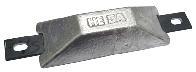 Navalloy European Style Hull Anode; 118mm x 45mm