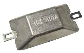 Navalloy European Style Hull Anode; 165mm x 88mm