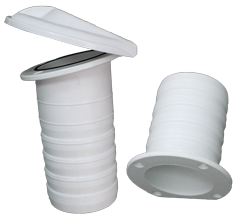 Nylon kuiplozersysteem  2-delig  Øinbouw (tule) 79mm  klep Ø130mm