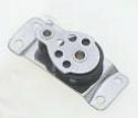 RVS Schildpadblok voor Dek - Montage. voor Lijn 8 Mm
