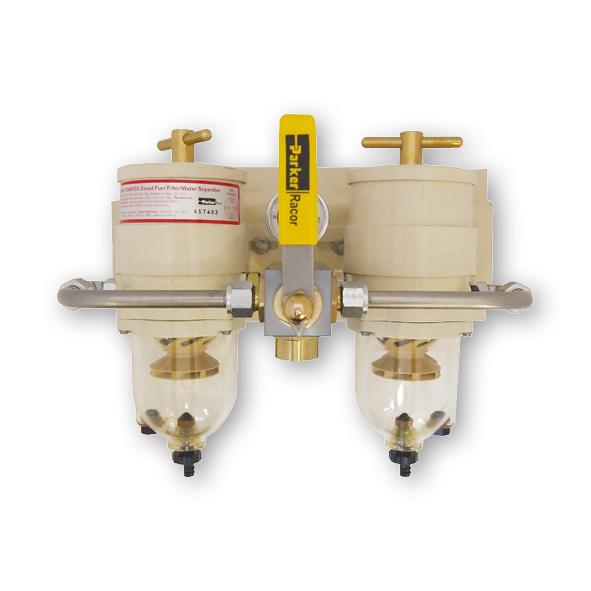 Racor Heavy Duty Turbine filter  omschakelbaar diesel filter met waterafscheider  model 75/500FGX