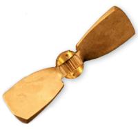 Radice 2-blads bronzen klapschroef 14x09 voor saildrive  RH (Z-17)