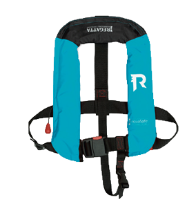 Regatta AquaSafe junior automatisch reddingsvest 18-40kg turquoise (CE ISO 12402-4 100W)