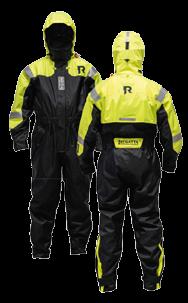 Regatta Drijfpak model Sportline 954 60-85kg (M) fluorescerend geel met zwart