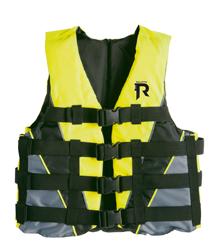 Regatta Racing skivest  40-70kg  60N  fluorescerend geel met zwart & grijs (CE EN393-50N)