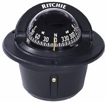 Ritchie Kompas model Explorer F-50  12V  inbouwkompas  roos Ø69 9mm / 5º  zwart