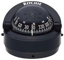 Ritchie Kompas model Explorer S-53 12V opbouwkompas roos Ø69 9mm / 5º zwart