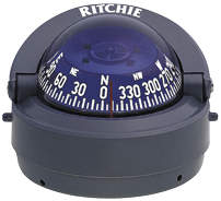 Ritchie Kompas model Explorer S-53G  12V  opbouwkompas  roos Ø69 9mm / 5º  grijs