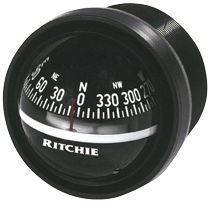 Ritchie Kompas model Explorer V-57.2  12V  dashboardkompas  roos Ø69 9mm / 5º  zwart