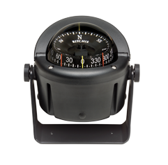 Ritchie Kompas model Helmsman HB-741 12V beugelkompas roos Ø93 5mm / 5º zwart