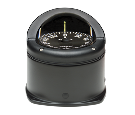 Ritchie Kompas model Helmsman HD-744 12V opbouwkompas roos Ø93 5mm / 5º zwart