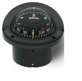 Ritchie Kompas model Helmsman HF-743 12V inbouwkompas roos Ø95mm / 5º zwart