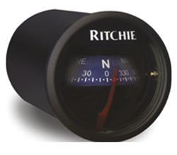 Ritchie Kompas model Ritchie Sport X-21BU  dashboardkompas  12V  roos Ø50 8mm / 5º  blauwe bezel