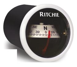 Ritchie Kompas model Ritchie Sport X-21WW  dashboardkompas  12V  roos Ø50 8mm / 5º  witte bezel
