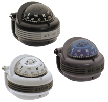 Ritchie Kompas model Trek TR-31  12V  beugelkompas  roos Ø57 2mm / 5º  zwart