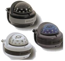 Ritchie Kompas model Trek TR-31G  12V  beugelkompas  roos Ø57 2mm / 5º  grijs