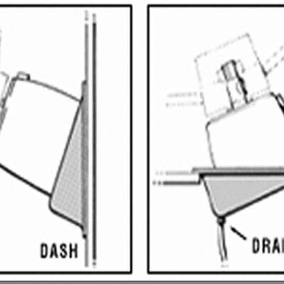 SeaStar Dashkit 20° voor SeaStar hydraulische stuurkop