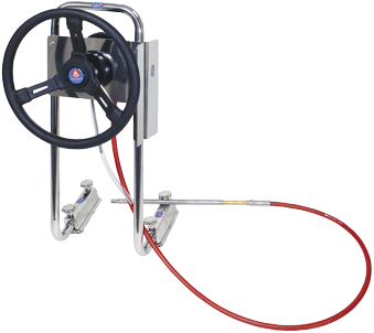 P55-stuursysteem voor rubberboten