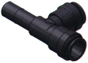 SeaTech Quick-connect T-stuk insteekbaar  Ø15mm x Ø15mm x Ø15mm (pijp)
