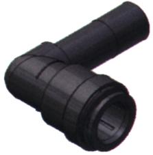 SeaTech Quick-connect knie-stuk insteekbaar  Ø15mm x Ø15mm (pijp)