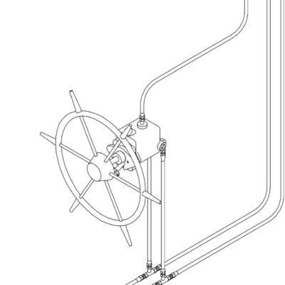Seastar-set voor Systeem-7 * 228kgm / voor 2e Stuurstand