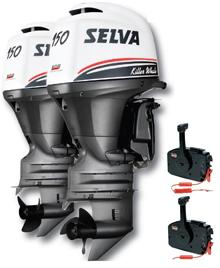 Selva Buitenboordmotor 2x Killer Whale 150EFI-16V