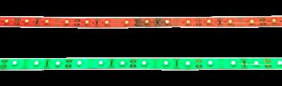 Set LED strips flexibel met plakranD; 1 x rood + 1 x groen